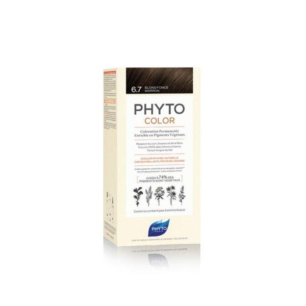 Phyto Phytocolor 6.7 Rubio Oscuro Marrón